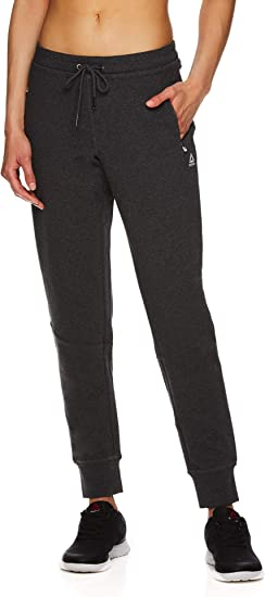 Reebok Pantalon de Jogging Slim pour Femme Taille Moyenne