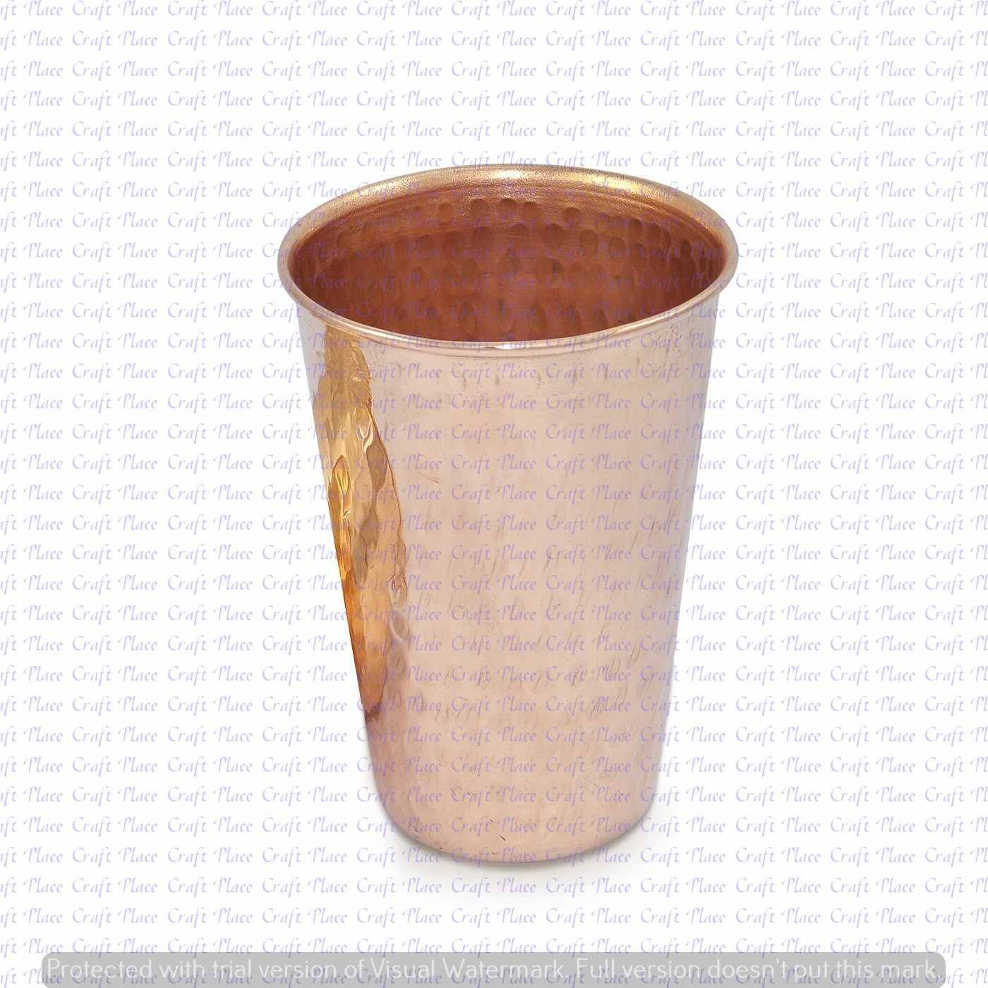 India Solid Copper Hammered Drinking Tumbler For Ayurvedic Health Benefits Craft place