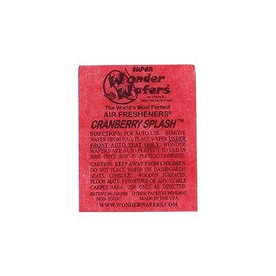 Wonder Wafers 25 CT Individually Wrapped Cranberry Splash Air Fresheners: Automotive