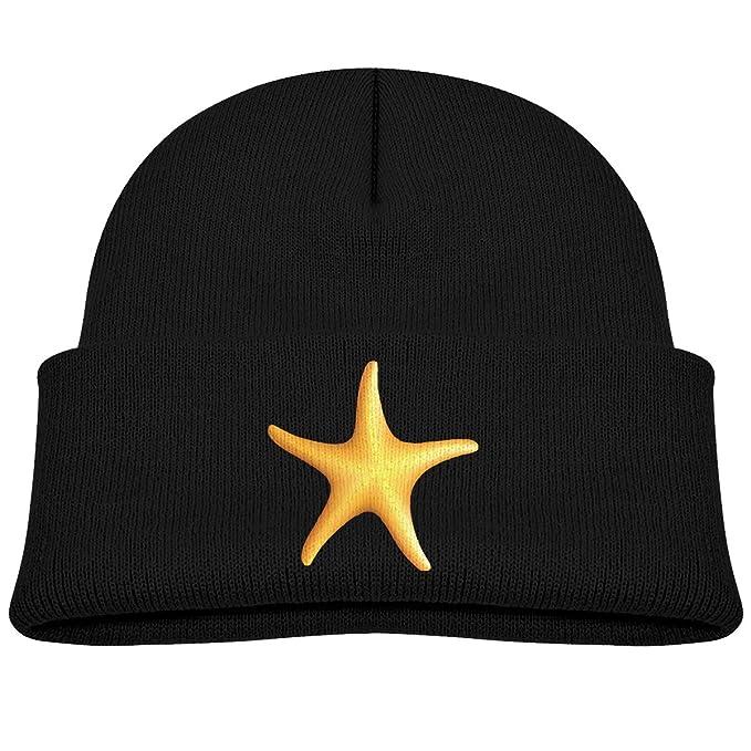 d40970e1cbf Amazon.com  Baby Toddler Infant Winter Warm Hat Kids Yellow Starfish Knit  Beanies Cotton Cap  Clothing
