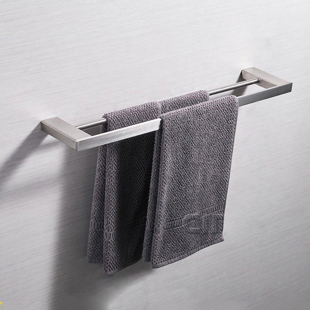 タオルラックウォールマウントウォールマウントステンレススチールシングル/ダブルタオルタオルラックのドアの浴室のキッチン (色 : A, サイズ さいず : 60 cm 60 cm) B07DHK6DBN 60 cm 60 cm A A 60 cm 60 cm