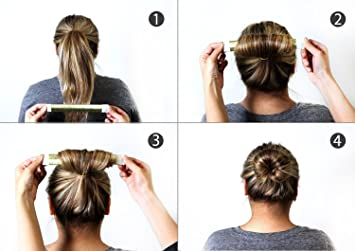 Amazon.com : Adorox 3 Piece Beauty Hair Bun Maker, Magic Bun Shape ...