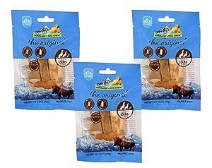 3-Pack Small Himalayan Chews Dog Chew Treat Made of Yak Milk 10.5 Total Oz