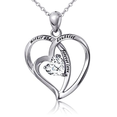 Amazon 925 Sterling Silver Mother And Daughter Forever Love