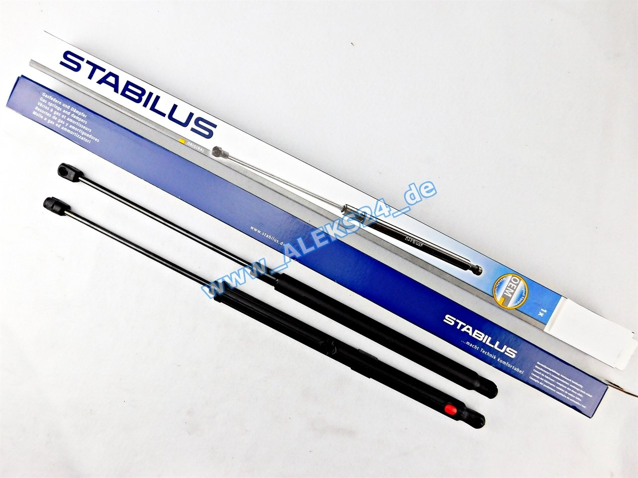 2 x Stabilus Lift 3-O Mat Lifter Ammortizzatore Molla a Gas Cofano Classe C W203 3477 X W + 3474 X K