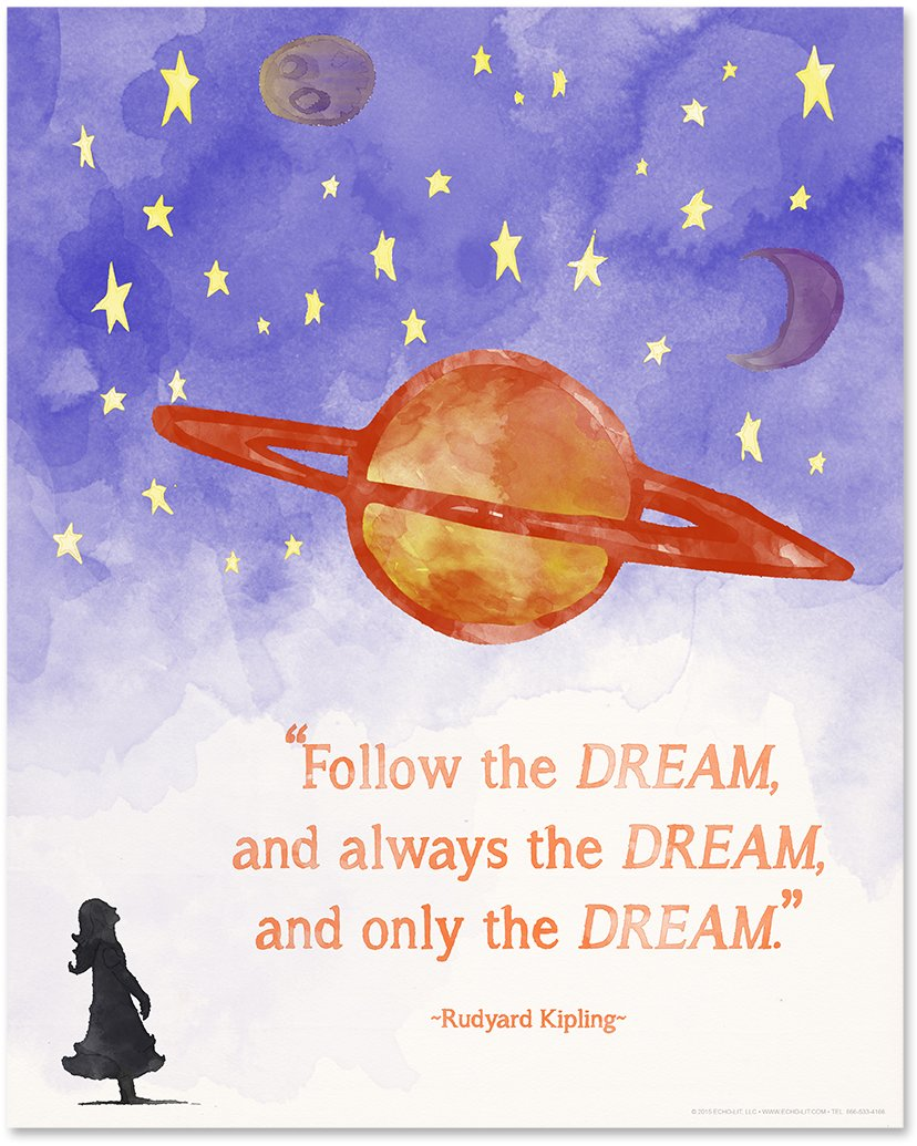 ECHO-LIT Children`s Literature Inspirational Quote Nine Poster Set for Home, Classroom or Library by ECHO-LIT (Image #4)