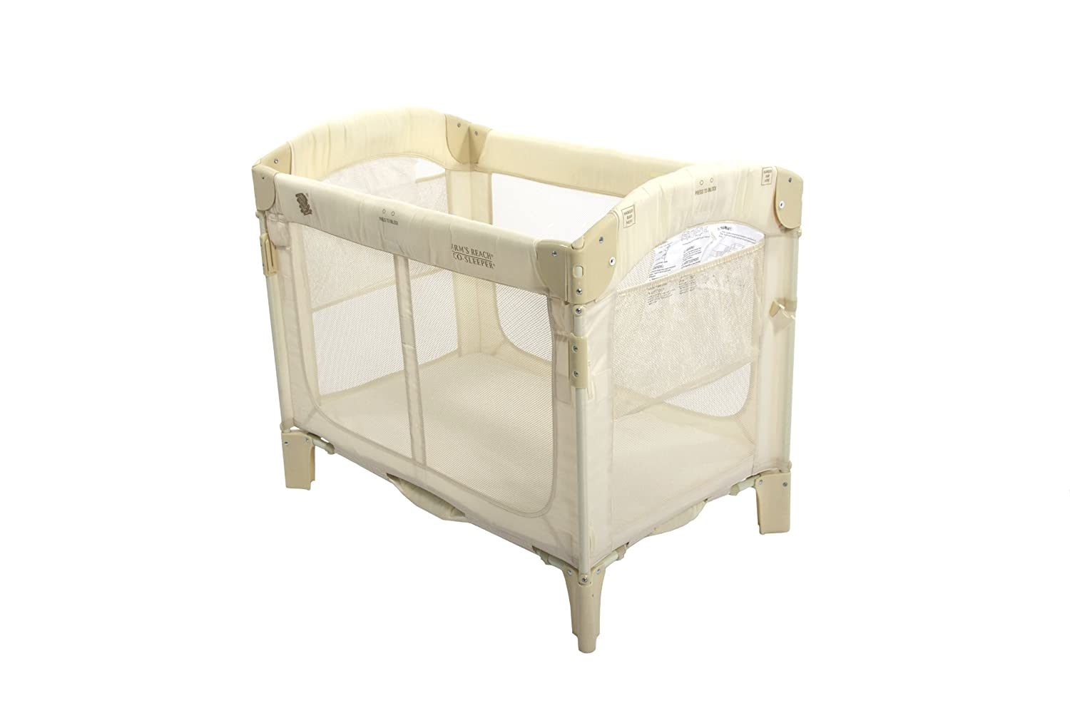 Amazon.com: Arm's Reach Ideal Arc Original Co-Sleeper Bedside Bassinet,  Natural: Baby