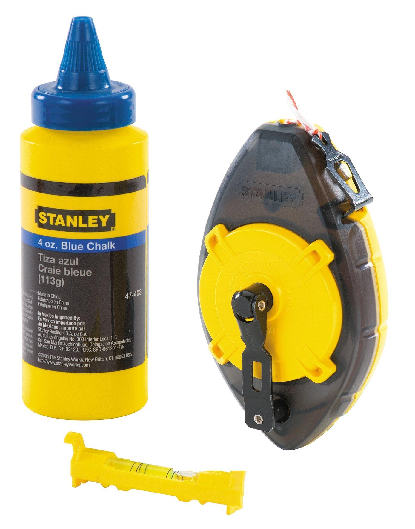 Stanley 0-47-465 Chalk Line-Set''Power Winder'', Multicolor