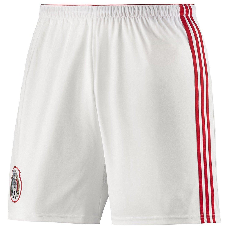 Adidas Mexico Home Shorts [ WHT / POPPY ] ( M ) B00DSZW6RO