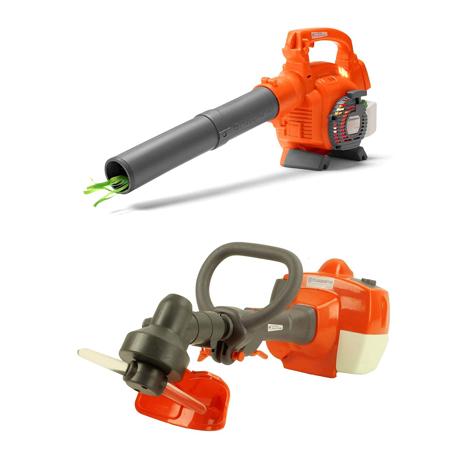B07H7S453W Husqvarna Kids Battery Operated Toy Leaf Blower + Weed Eater w/ Sound 71fFRv5Yv8L