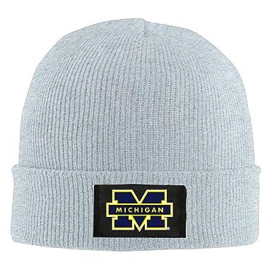 Amazon.com  Gdlov University Of Michigan Wolverines 23 Men Women Unisex  Winter Warm Acrylic Watch Knit Woolen Beanie Cap Hat Size One Size US Ash   Clothing 10df6a433
