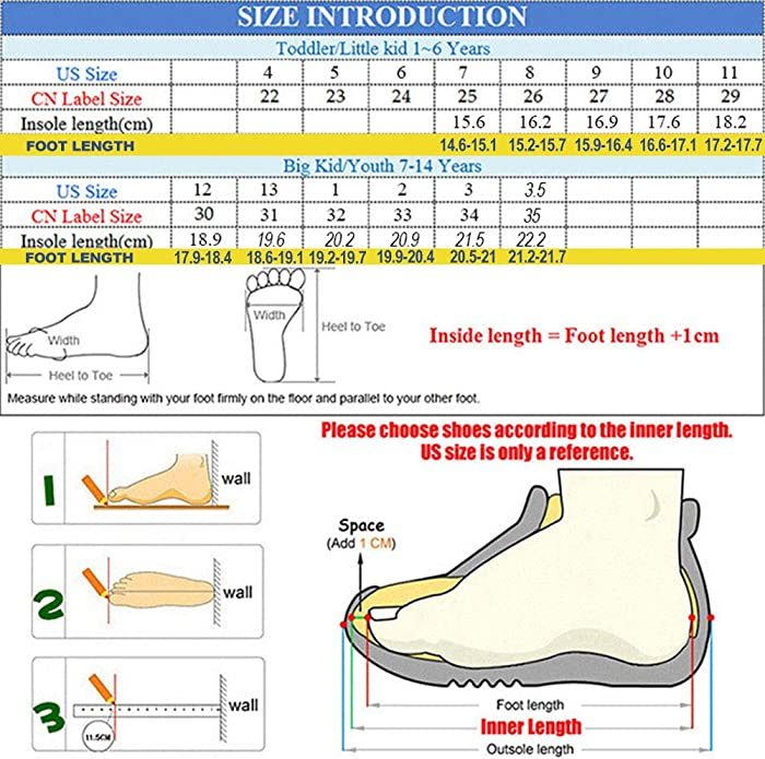 size 7 children's shoes in cm