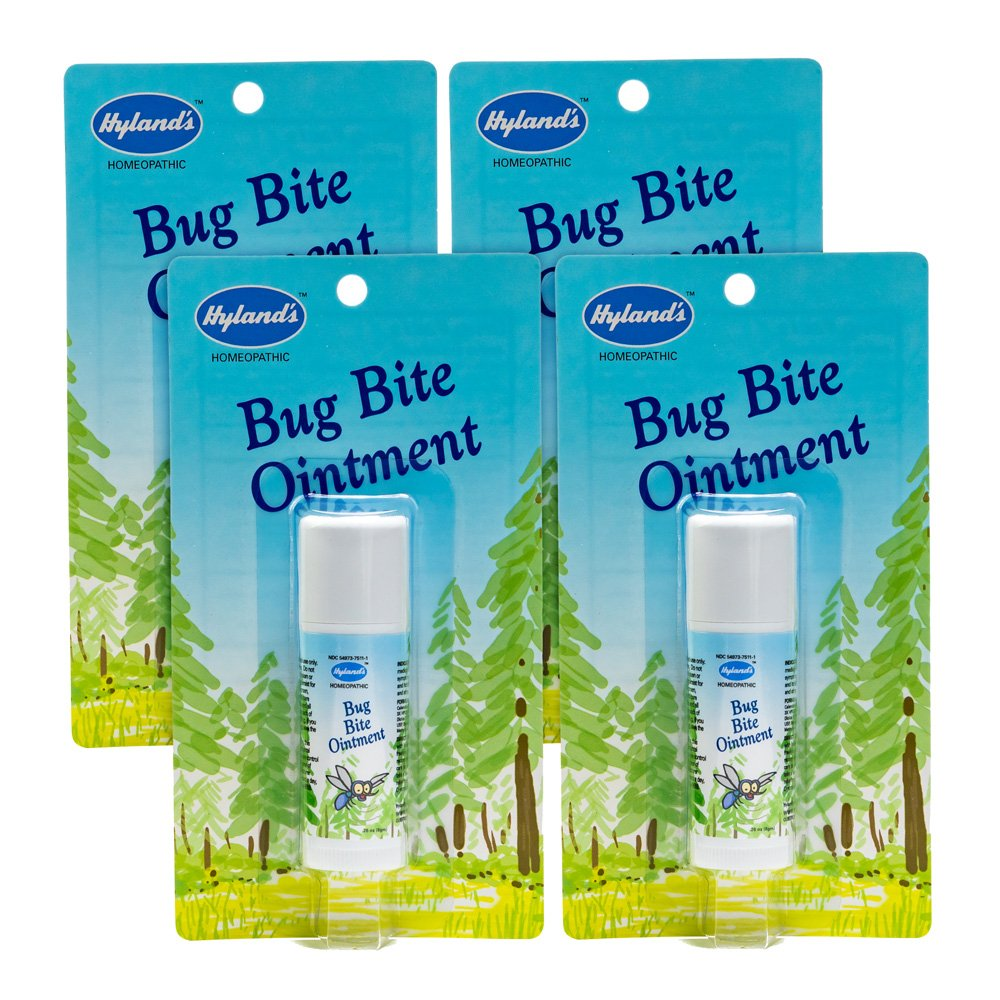 Natural Bug Bite Itch Relief by Hyland's, Fast Acting Bug Bite Ointment, Relieves Swelling and Itching from Bug Bites, 0.26oz Stick, Pack of 4