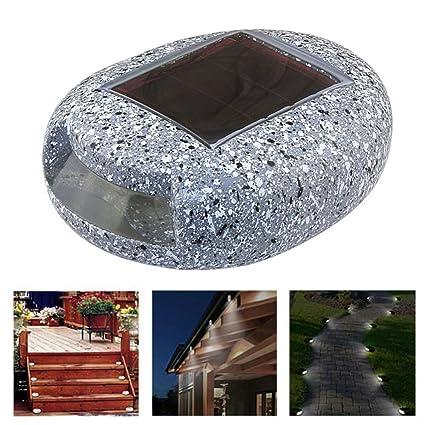 COOVIE Solar Garden Lights,Waterproof 1LED Solar Spotlight Wall Light  Landscape Light Security Simulation Stone