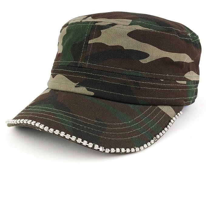 83e1d5b995b Trendy Apparel Shop Cubic Stud Castro Cadet Jeep Style Adjustable Cotton Cap  Hat - Camo