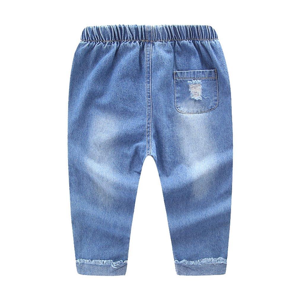NiSeng Niños Rotos Vaqueros Pantalones Niños Y Las Niñas ...