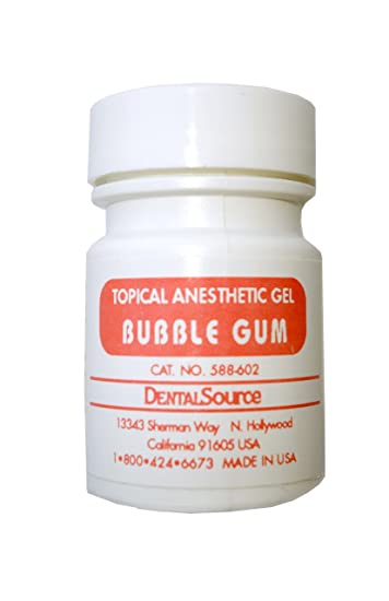 Dental Topical Anesthetic Gel 30 gm Bubble Gum Flavor