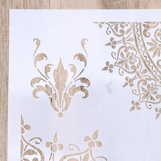 ultnice plantilla de dibujo de flores para DIY de blanco: Amazon.es: Hogar
