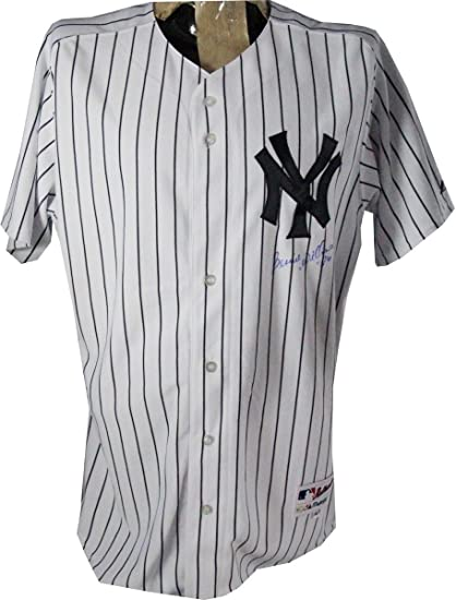 new style 319b8 6b6f9 Bernie Williams Signed New York Yankees Authentic Home ...