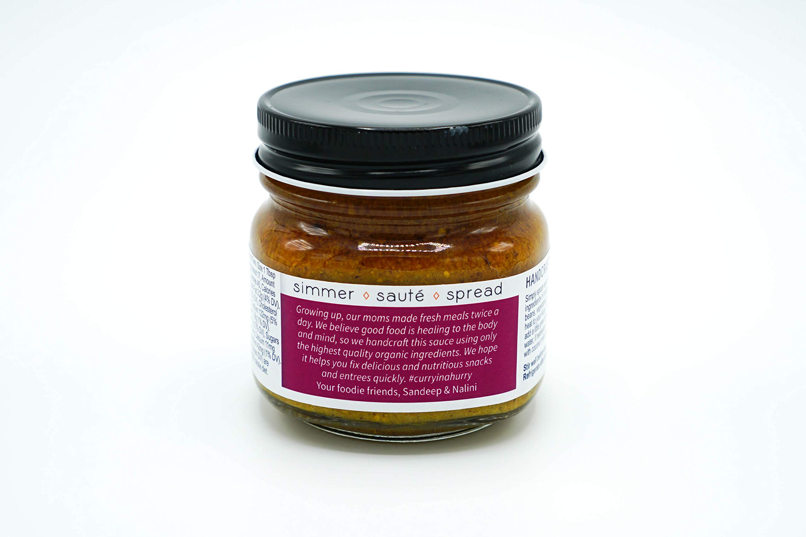 Curry In A Hurry (Madras) 8.5 oz, Certified Organic Curry Sauce by Pure Indian Foods (Image #2)