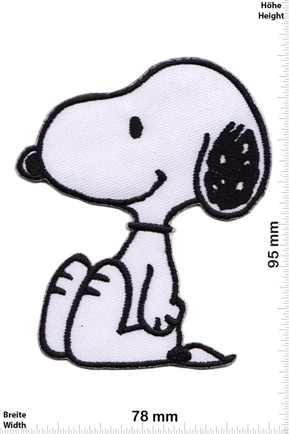 Iron on Applique Embroidery /Écusson brod/é Costume Cadeau- Give The Peanuts Sit Big -Cartoon -Snoppy -Snoopy Patch Snoopy
