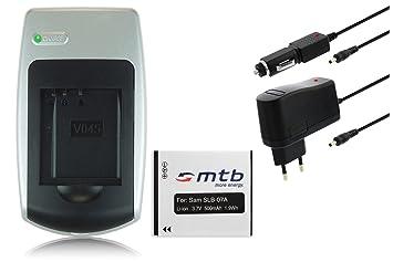 Batería + Cargador SLB-07A para Samsung PL150, PL151, ST45, ST50, ST500, ST510