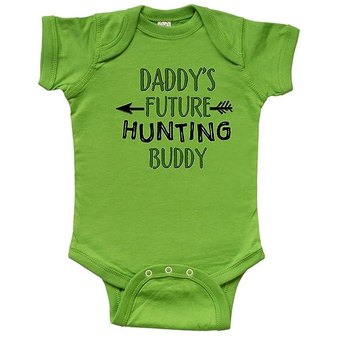 262972db24c30 inktastic - Daddys Future Hunting Buddy Infant Creeper Newborn Apple Green  31a12