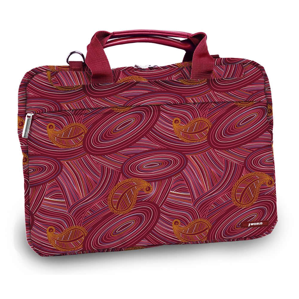 J World JEANIE 13.4 Laptop Briefcase in Paisley