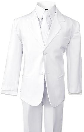 e0501376b Amazon.com  Big Boys White Suit Dresswear Set  Business Suit Pants ...