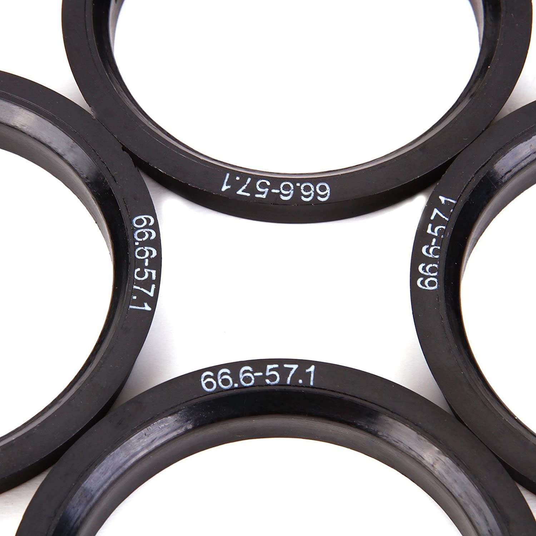 Yellow SurePromise 4 PCS Wheel Spacers Hub Centric Spigot Rings 66.6-57.1