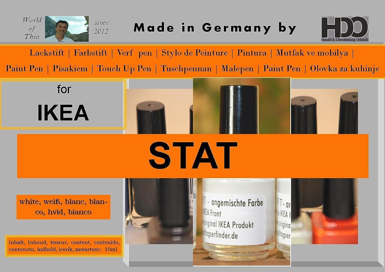Farbstift Retuschierstift IKEA Front STAT WEISS: Amazon.de: Küche ...