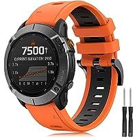 YASPARK Armband för Garmin Fenix 6/Fenix 6 Pro/Fenix 5/Fenix 5 Plus/Forerunner 935/945/Instinct/Approach S60/Quatix 5…