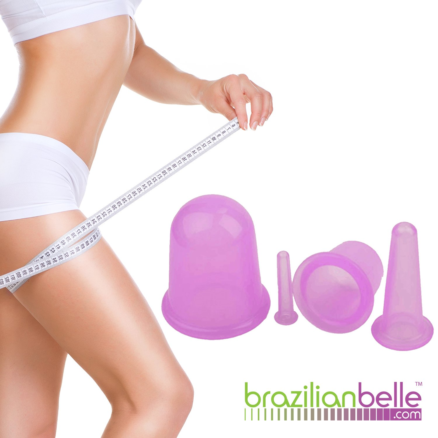 Brazilian Belle Cellulite Cupping Therapy Kit: Professional Suction Cups for Body –Complete Set For