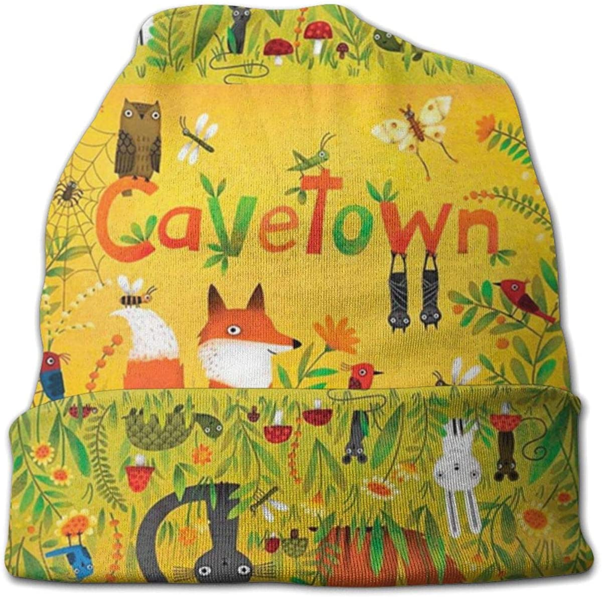 HXFCAT Cavetown Custom Beanie Hat Unisex Adult Hats Winter Warm Knit Baseball Cap Black