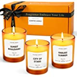 LA BELLEFÉE Candles Scented for Summer Gifts Set, Natural Soy Candles Gift Set for Mother, Wowen, Relaxing Spa, Yoga, Bath. 3