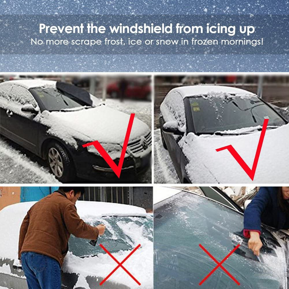 100CM,Carro del coche SUV Parabrisas ventana delantera Lunas de la cubierta de nieve de hielo Protector,Anti Rayos UV K-Bright Protector de parabrisas para el sol,147