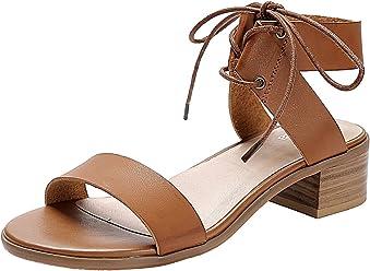 f00c707cb07 Women s Wide Width Heeled Sandals - Classic Low Block Heel Open Toe Ankle  Strap Suede Summer