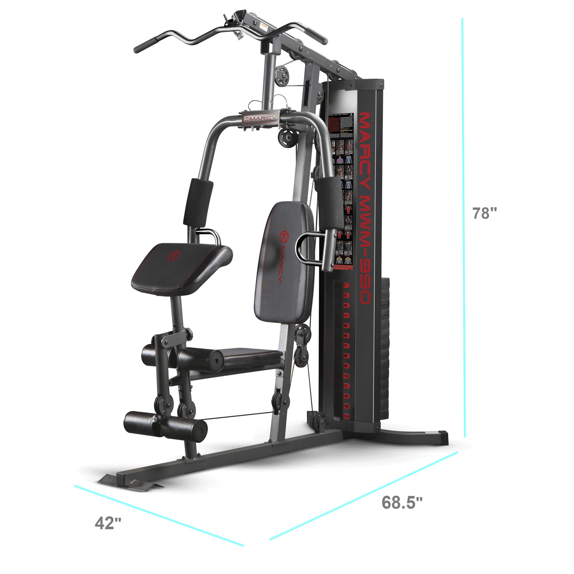 Marcy 150-lb Multifunctional Home Gym Station for Total Body Training MWM-990 by Marcy (Image #1)