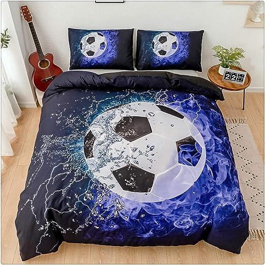 3D Football Basketball Bedding Set Soccer Duvet Cover Pillowcase Comforter Cover