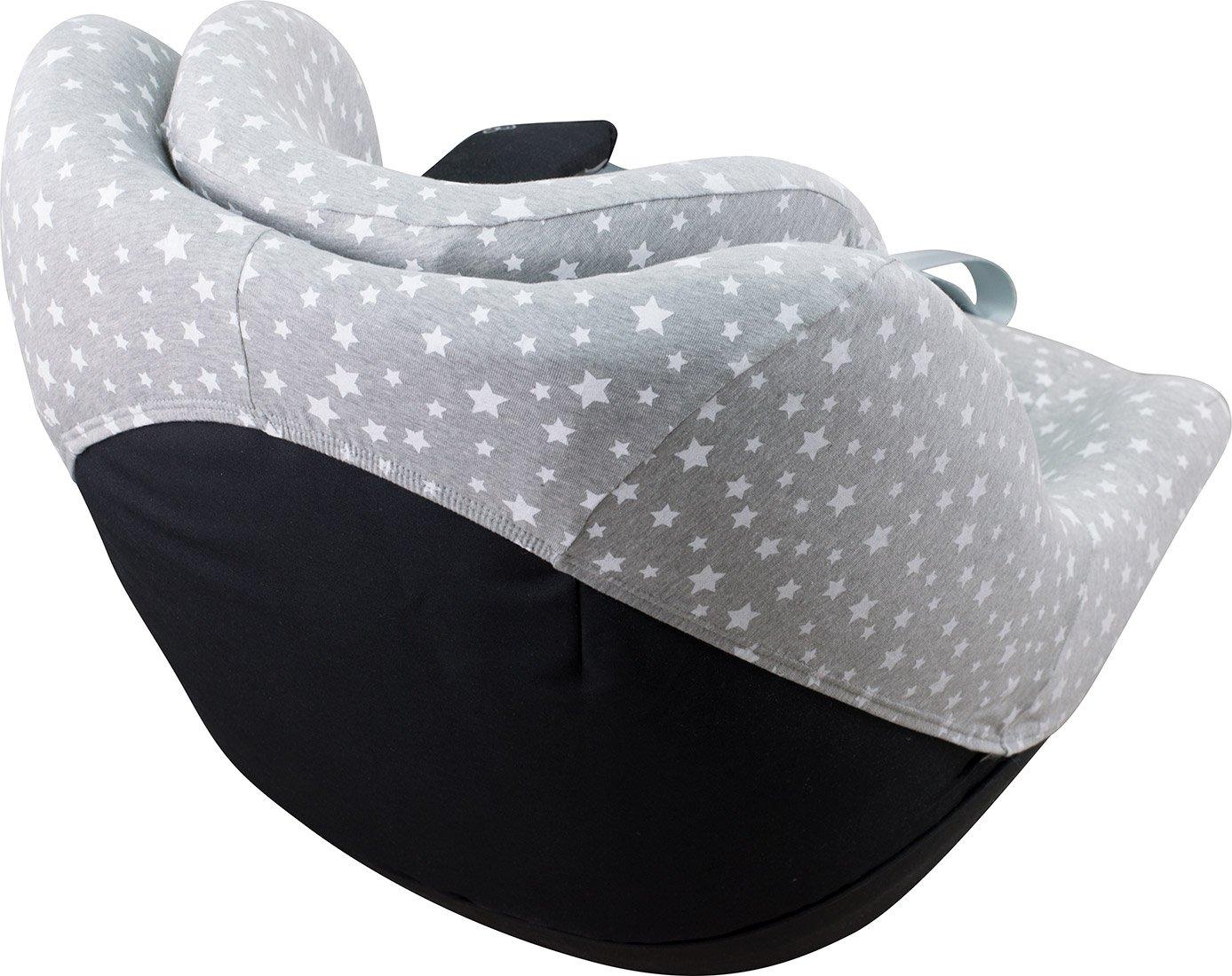 JANABEBE Bezug f/ür Maxicosi 2 way Pearl mit 3D-Verst/ärkung Center-Kanal Black Rayo