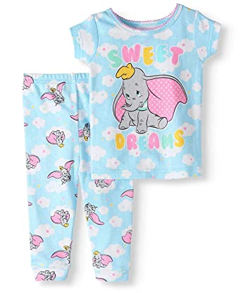 b071ba9a1 Amazon.com  Baby Toddler Pajama Set with Dumbo The Elephant Sweet ...