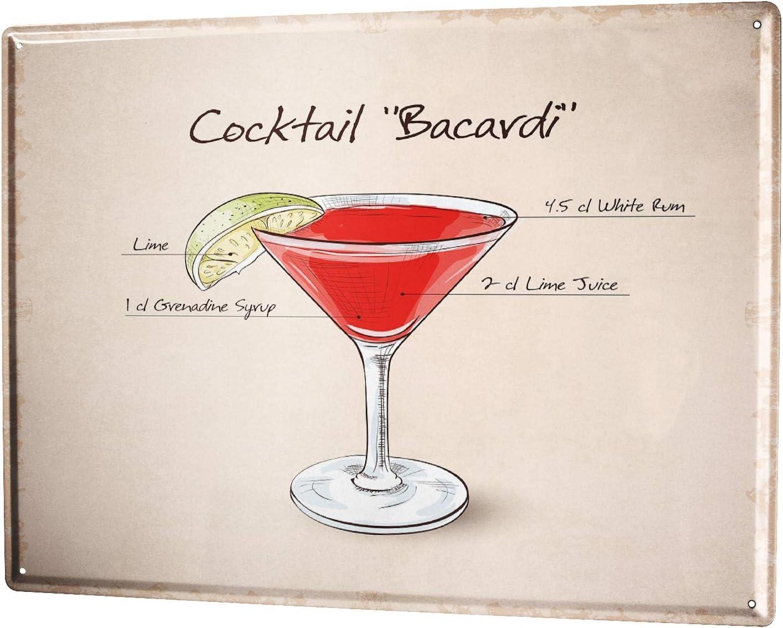 Tin Sign XXL Nostalgic Alcohol Retro cocktail party metal plate plaque