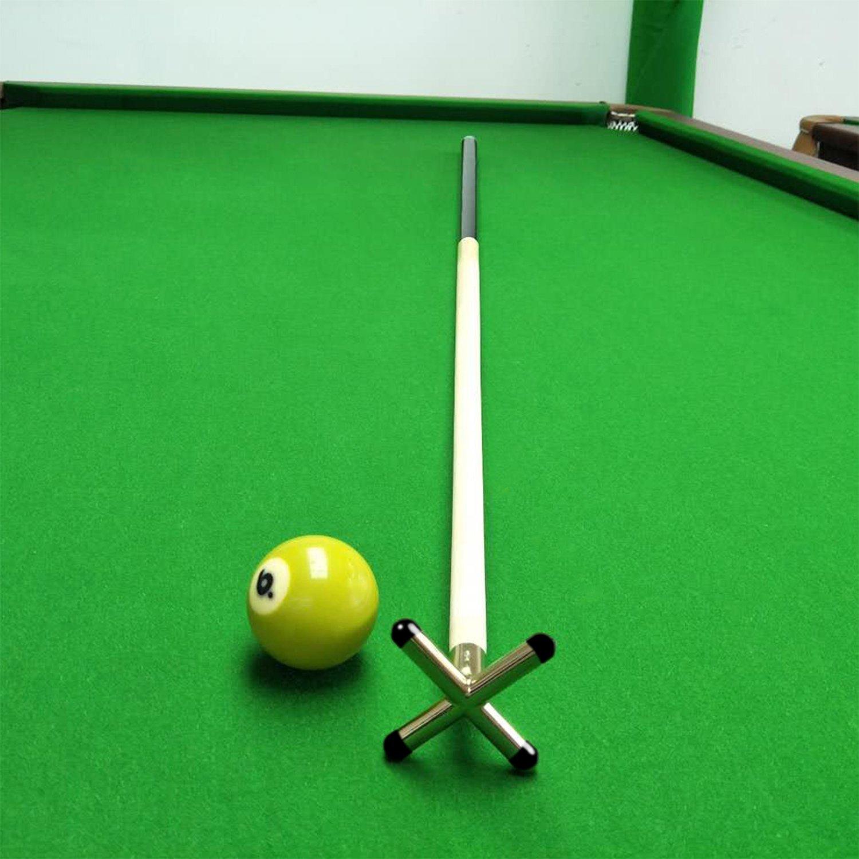 Waycreat Brass Smart Pool Snooker Table Cue Brass Cross Con Cabeza de Ara/ña 1 Pieza Cruz Resto + 1 Piezas Ara/ña Resto Cabeza