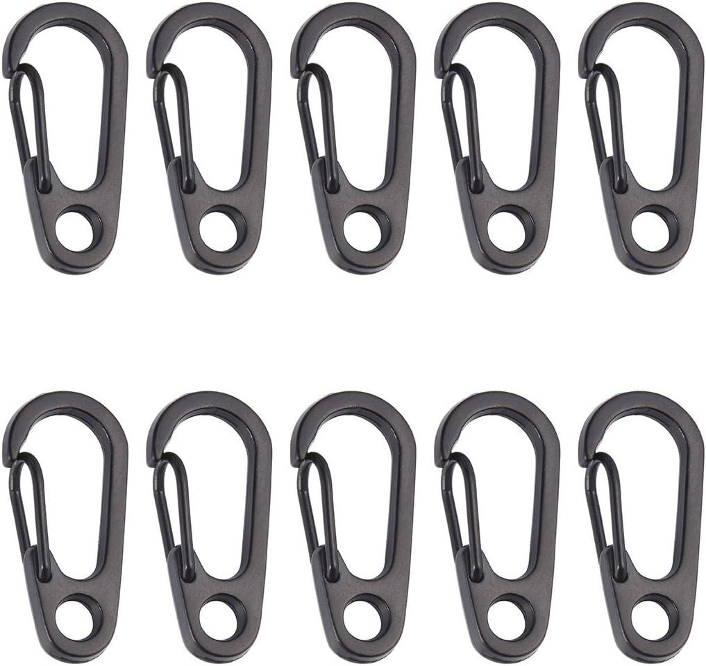 50Pcs Outdoor Mini Carabiner Snap Spring Clips Hook Alloy Keychain Keyring