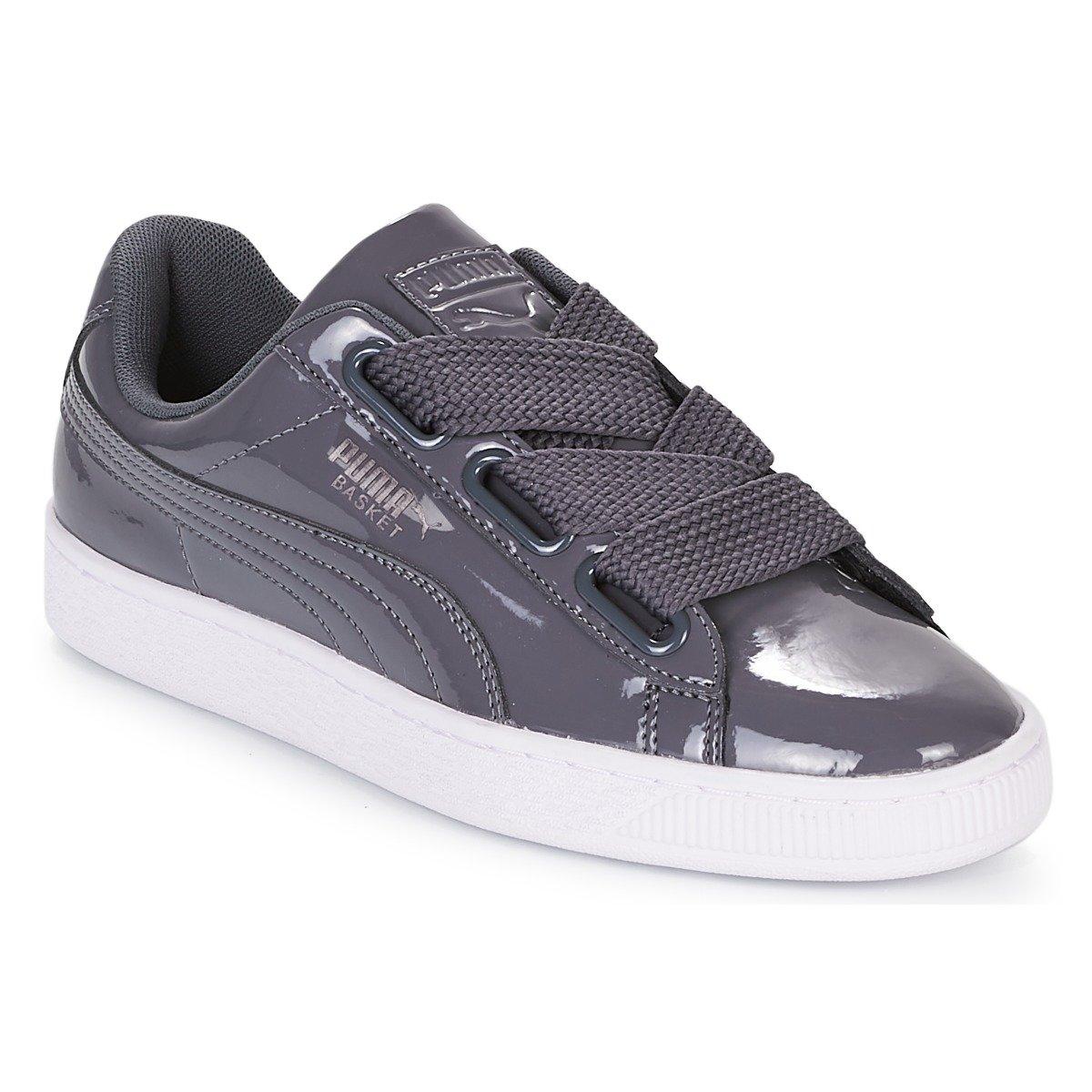 Puma Damen Basket Heart Patent WNs Sneaker  40 EU|Grau (Iron Gate-iron Gate 17)