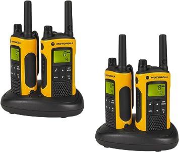 Motorola P14MAA03A1BL - Walkie-Talkie, Naranja, 4 unidades: Amazon.es: Electrónica