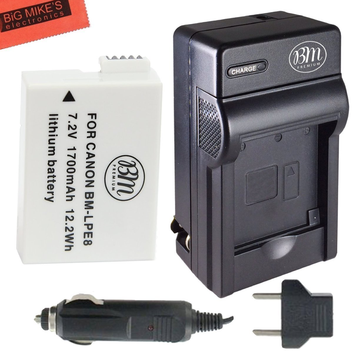Replacement LP-E8 LPE8 Battery And Charger Kit For Canon Rebel T5i T4i T3i T2i DSLR Digital Camera + More!! Big Mike' s