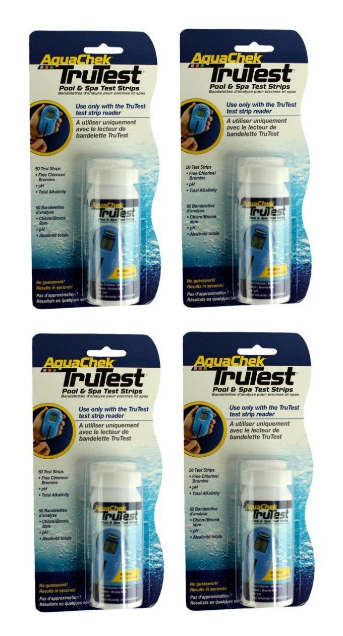 4) Aquachek 512082 TruTest Digital Reader Swimming Pool Spa Test Strips Refills by AquaChek