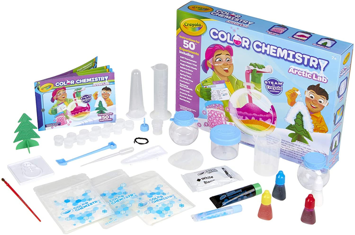 Crayola Arctic Color Chemistry Set for Kids, Steam/Stem Activities, Educational Toy, Ages 7, 8, 9, 10, Multicolor