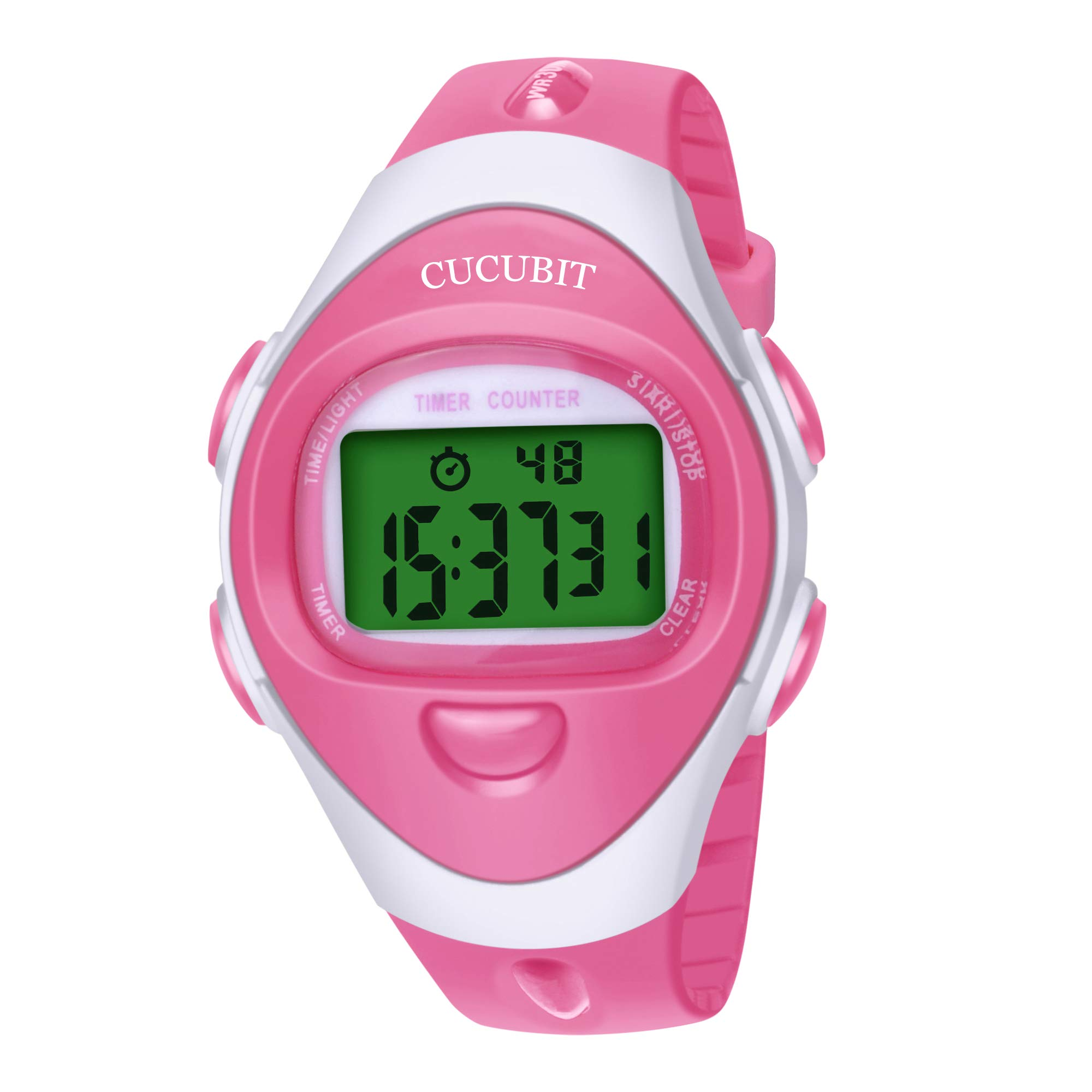 Baby Reminder Watch for Toilet Potty Training Water Resistant Toddler Timer Watches(Pink)